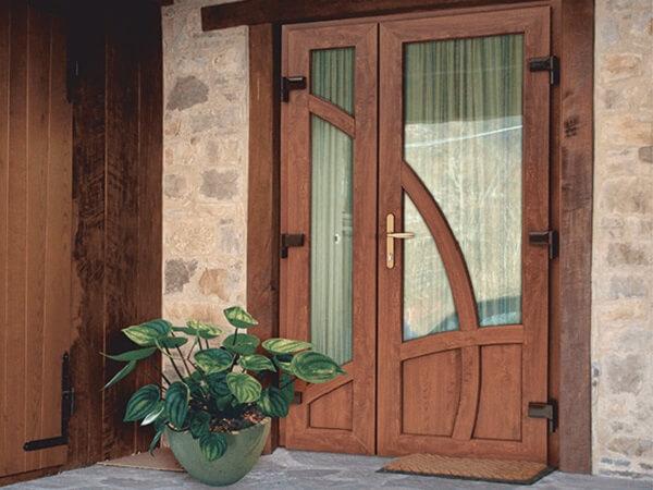 Ламинация входной двери ПВХ