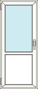 Остекление балконной двери с сэндвичем