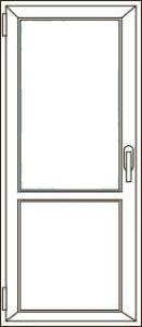 Межкомнатная дверь с сэндвич- панелью
