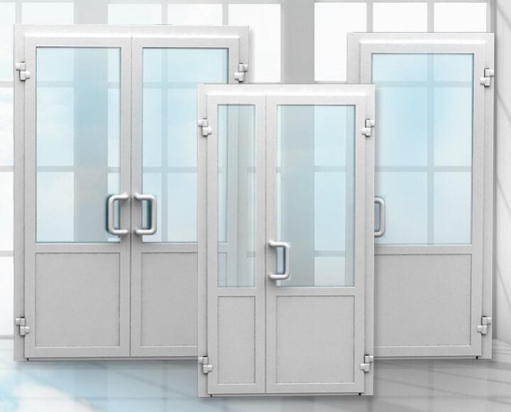 Виды створок дверей ПВХ